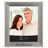 "Prinz Anniversary ""25th"" 8-Inch x 10-Inch Picture Frame in Silver"