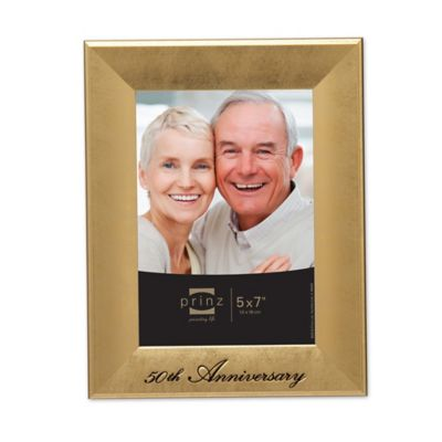 prinz 5 inch x 7 inch 50th wedding anniversary happily ever after