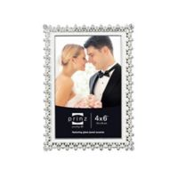 Elegance 4-Inch x 6-Inch Silver-Plated Metal Picture Frame