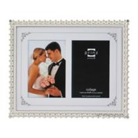 Elegance 4-Inch x 6-Inch Silver-Plated Dual Metal Picture Frame
