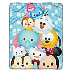 Disney® Tsum Tsum  All in Blue  Raschel Throw Blanket by The Northwest