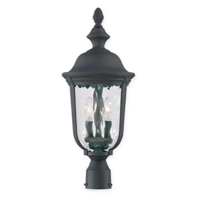Buy decorative outdoor light posts from bed bath beyond minka lavery ardmore 2 light post mount outdoor lantern in black aloadofball Choice Image