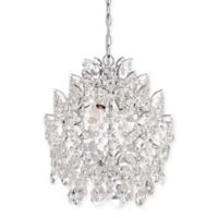 Minka Lavery Crystal 3-Light Mini Pendant Ceiling Fixture in Chrome
