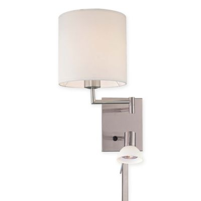 Wall Lamps Bed Bath Beyond : George Kovacs 1-Light Wall Sconce in Brushed Nickel with Glass Shade - Bed Bath & Beyond