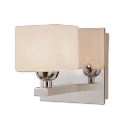 Wall Sconces Bed Bath Beyond : Bel Air Lighting Opal Cube Wall Sconce - Bed Bath & Beyond