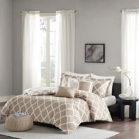 Madison Park Merritt Reversible Full/Queen Duvet Cover Set in Taupe