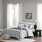 Madison Park Merritt Reversible Full/Queen Duvet Cover Set in Grey