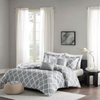 Madison Park Merritt Reversible King/California King Duvet Cover Set in Grey