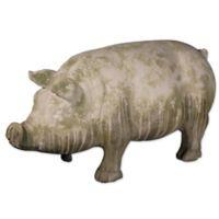 A&B Home Wilbur Pig Standing Accent Garden Statue Grey/Green
