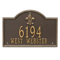 Whitehall Products Bayou Vista 2-Line Standard Wall Plaque
