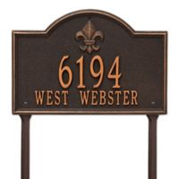 Whitehall Products Bayou Vista Standard Lawn House Numbers Plaque in Oil Rubbed Bronze