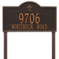 Whitehall Products Bayou Vista Double Line Estate Lawn Plaque in Oil Rubbed Bronze