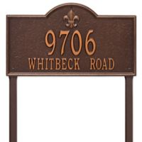 Whitehall Products Bayou Vista Double Line Estate Lawn Plaque in Antique Copper