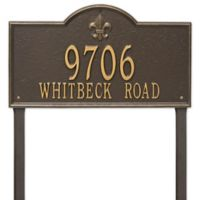 Whitehall Products Bayou Vista Double Line Estate Lawn Plaque in Bronze/Gold