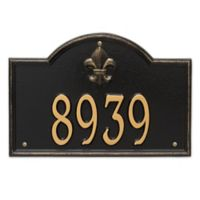 Whitehall Products Bayou Vista Standard 1-Line House Numbers Plaque