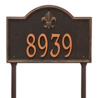 Whitehall Products Bayou Vista Single Line Standard Lawn Plaque in Oil Rubbed Bronze