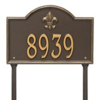Whitehall Products Bayou Vista Single Line Standard Lawn Plaque in Bronze/Gold