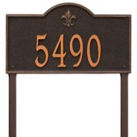 Whitehall Products Bayou Vista Estate Lawn House Numbers Plaque in Oil Rubbed Bronze