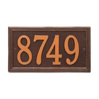 Whitehall Products Double-Line House Numbers Plaque in Antique Copper