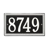 Whitehall Products Double-Line House Numbers Plaque in Black/White