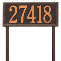 Whitehall Products Single Line Estate Lawn Plaque in Oil Rubbed Bronze