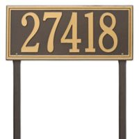 Whitehall Products Single Line Estate Lawn Plaque in Bronze/Gold