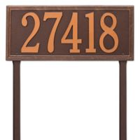 Whitehall Products Single Line Estate Lawn Plaque in Antique Copper