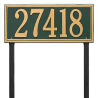 Whitehall Products Single Line Estate Lawn Plaque in Green/Gold