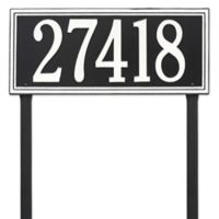 Whitehall Products Single Line Estate Lawn Plaque in Black/White
