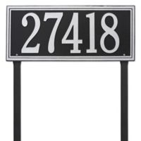 Whitehall Products Single Line Estate Lawn Plaque in Black/Silver