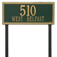 Whitehall Products Double Line Estate Lawn Plaque in Green/Gold