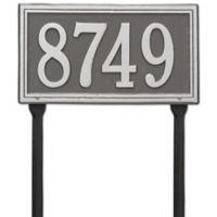 Whitehall Products Single Line Standard Lawn Plaque in Pewter Silver