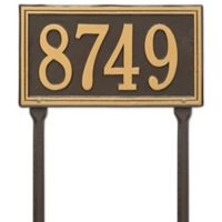 Whitehall Products Single Line Standard Lawn Plaque in Bronze/Gold