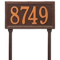 Whitehall Products Single Line Standard Lawn Plaque in Antique Copper