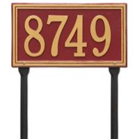 Whitehall Products Single Line Standard Lawn Plaque in Red/Gold