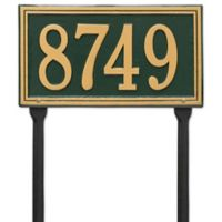 Whitehall Products Single Line Standard Lawn Plaque in Green/Gold