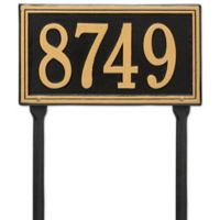 Whitehall Products Single Line Standard Lawn Plaque in Black/Gold
