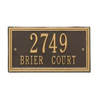Whitehall Products Double Line 2-Line Standard Wall Plaque in Bronze/Gold