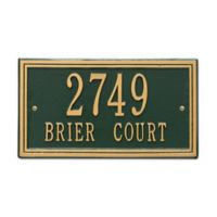 Whitehall Products Double Line 2-Line Standard Wall Plaque in Green/Gold