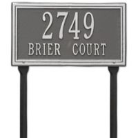 Whitehall Products Double Line Standard Lawn Plaque in Pewter Silver