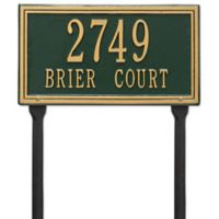 Whitehall Products Double Line Standard Lawn Plaque in Green/Gold