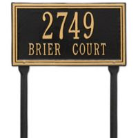 Whitehall Products Double Line Standard Lawn Plaque in Black/Gold