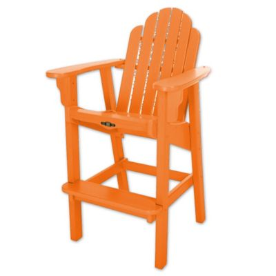 Superieur Pawleys Island® Durawood® Essentials High Dining Chair In Orange