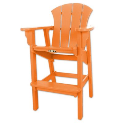 Amazing Pawleys Island® Durawood® Sunrise High Dining Chair In Orange