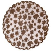 Leaf Lace Table Topper in Brown