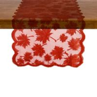 "Maple Leaf 72"" Round Table Runner in Spice"