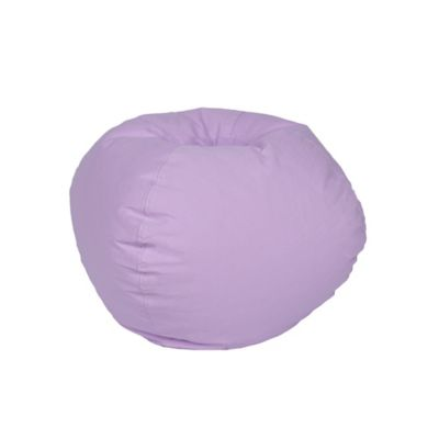 Medium Stitched Bean Bag Chair In Violet