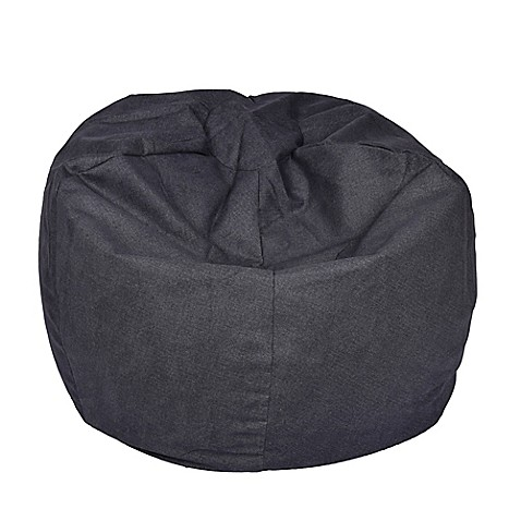 extra large bean bag chair in vintage denim bed bath beyond. Black Bedroom Furniture Sets. Home Design Ideas