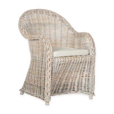 Nice Safavieh Callista Wicker Chair In White