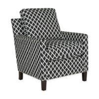 Safavieh Buckler Club Chair in Black/White